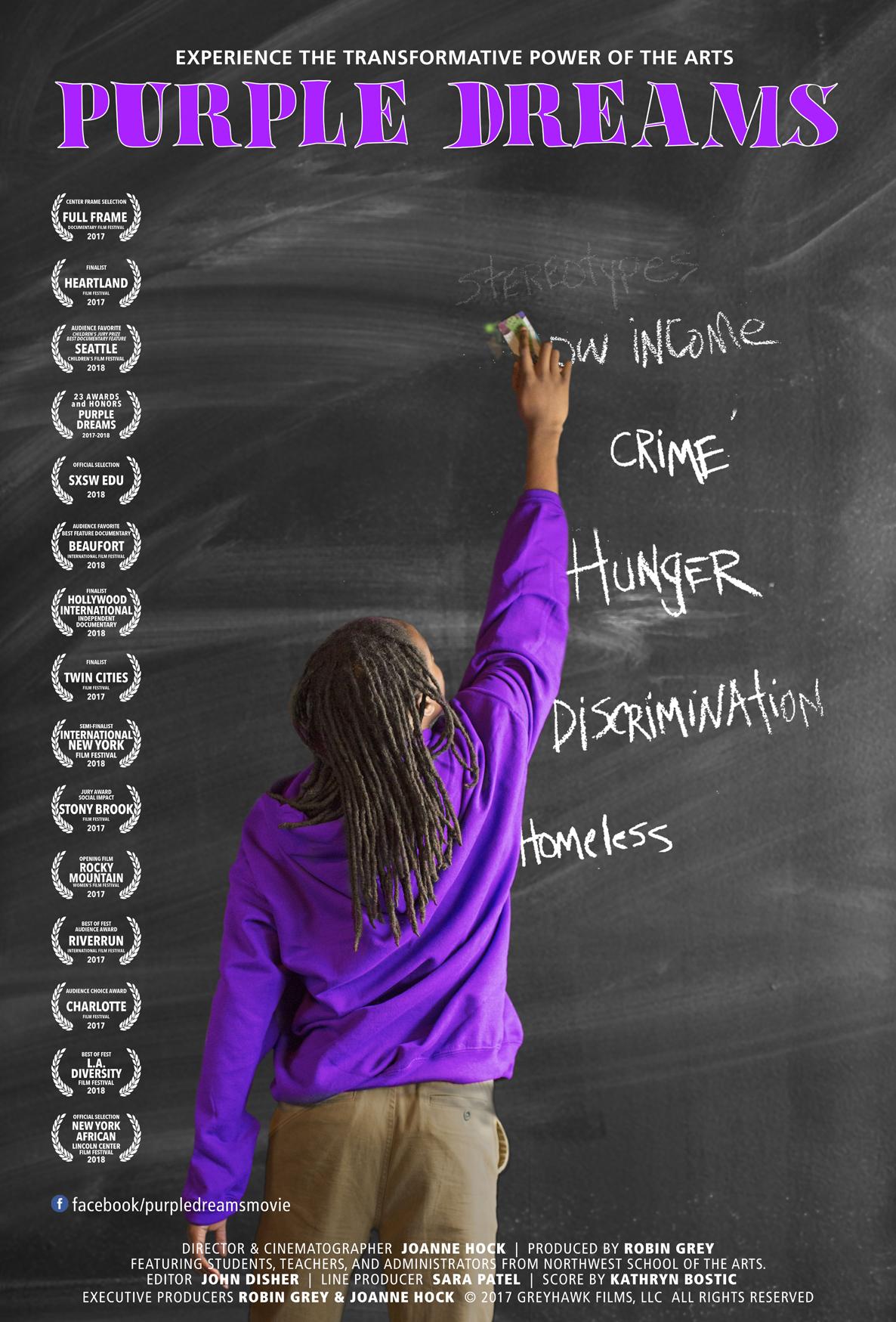 Joanne Hock, Joanne Hock Films, Director, Purple Dreams, Documentary, Award Winning Documentary